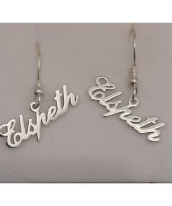 0.925 Sterling Silver Elspeth custom Vertical Earrings Design