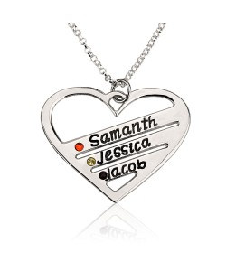 Sterling silver Necklace up to 4 names