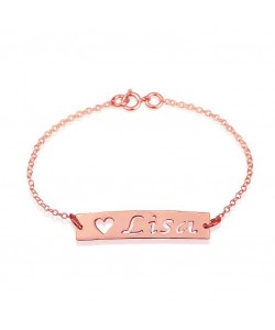 Friendship bracelets with names in Rose gold plate jewelry