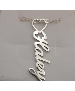 Haley custom white necklace