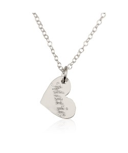14K White Gold Heart Pendant Necklace with Name Engraved