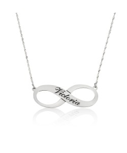 infinity name necklace in 925 sterling silver - Up to 4 names.