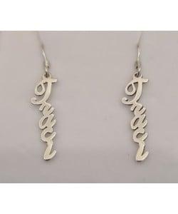 0.925 Sterling Silver Jeaci custom Vertical Earrings Design