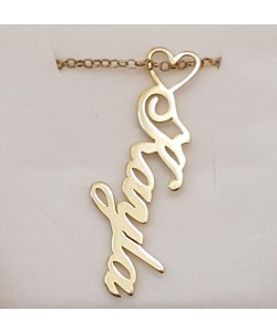 Kayla Name Necklace 14k Yellow Gold