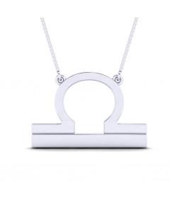 Libra zodiac sign necklace in Sterling silver