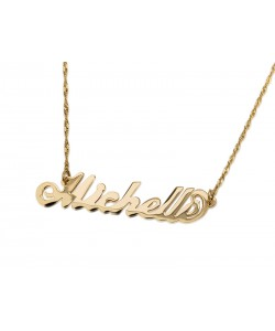 Michaela style 14k gold name Jewelry - Any name or word