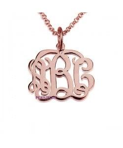 Monogram Rose Necklace - Classic Style 1