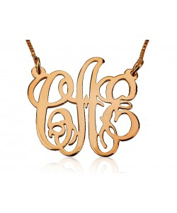 Monogram name necklace gold plated up to 3 letters