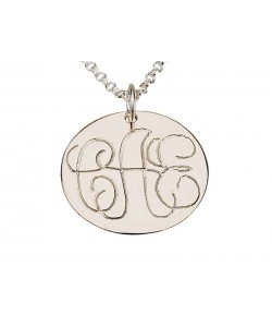 Monogram name necklace in silver custom jewelry