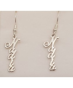 0.925 Sterling Silver Nadia Vertical Earrings