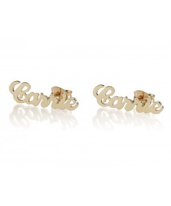 14k Gold Stud Name Earrings