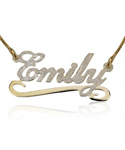 Name Necklace Mix gold plated with Stilver