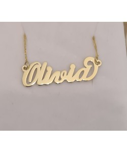 Name Necklace 10K Solid Yellow Gold Olivia Style