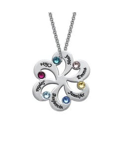 Personalized Family Necklace with Birthstones