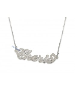 Prestige Carrie name necklace in real gold Sparkling 14k