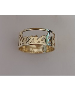 "10k Solid Yellow Gold Gleaming ""Randy"" Open Design Ring"