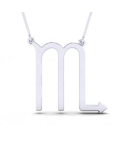 Scorpio zodiac sign necklace in Sterling silver