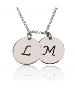 Silver Charm Necklace with Initials up to 5 charm Personalized Jewelry