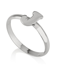 Sterling silver initial ring - Handmade ring jewelry for her