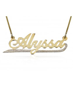 Solid gold lower sparkling line - Made of 14k solid gold