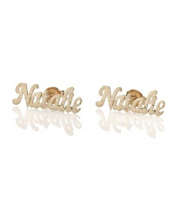 Gold plating Sparkling Cut Stud Earrings - PersJewel