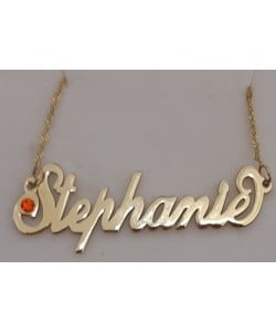 """Stephanie"" 14K Solid Yellow Gold Lower Swarovski Pendant"