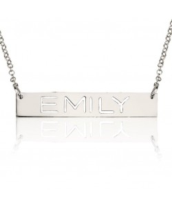 Sterling Silver Bar with the Name Engraved Necklace personalized Jewelry