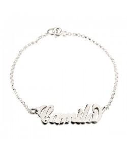 Sterling Silver Floating Personalized Bracelet