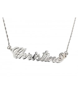"Sterling Silver ""Christine"" Style Name Necklace"