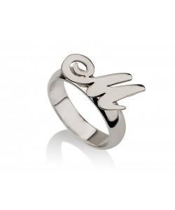 Sterling Silver Ring With Initial Letter