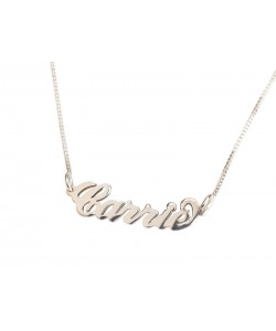 Sterling Silver Small Carrie style Name Necklace Carrie Style