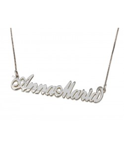 Sterling Silver Two Capital Letters Name Necklace