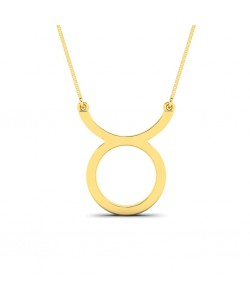 Taurus zodiac sign necklace in yellow gold