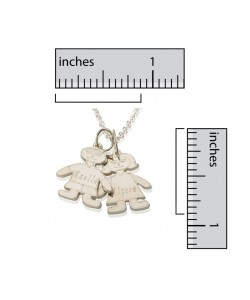 White Gold Necklaces Engraved Children's