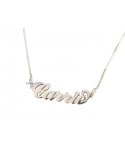 Carrie name styled necklace
