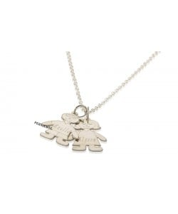 White Gold Necklaces Engraved Children's Name Necklace