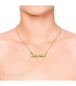 Arabic name necklace jewelry with birthstone in Rose gold plated