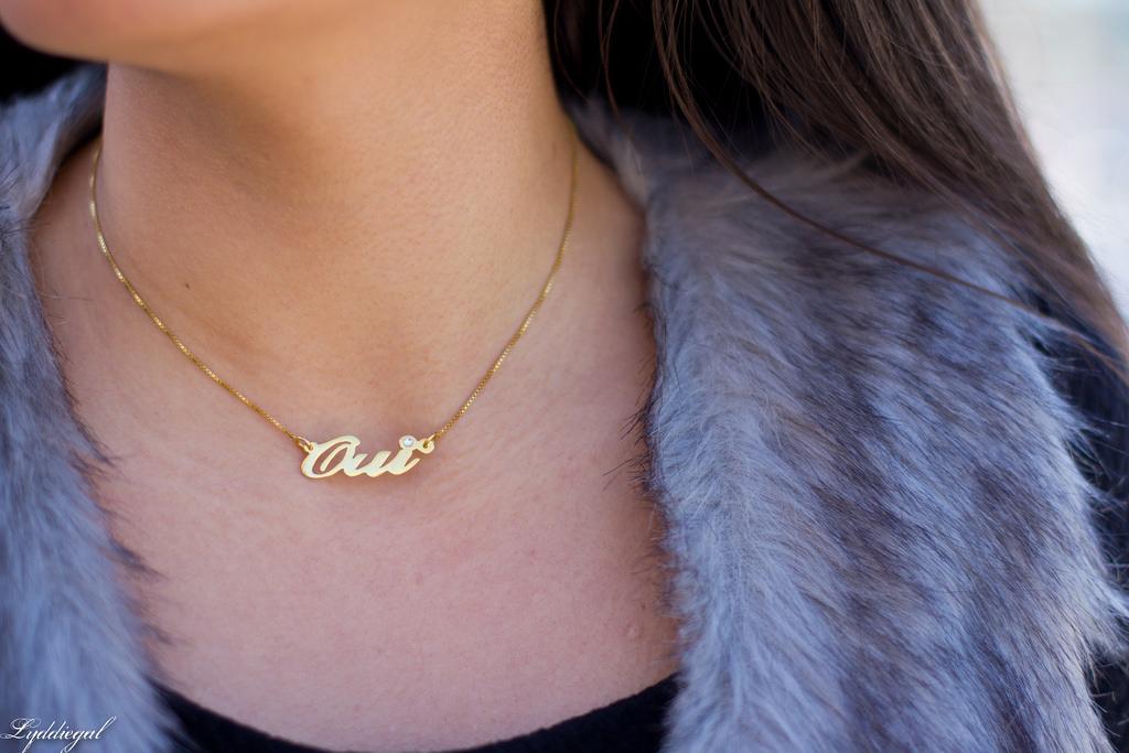 name necklace with swarovski stone customer send us PersJewel