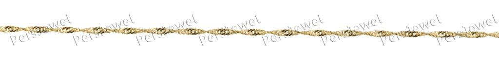 Yellow Twist solid gold chain
