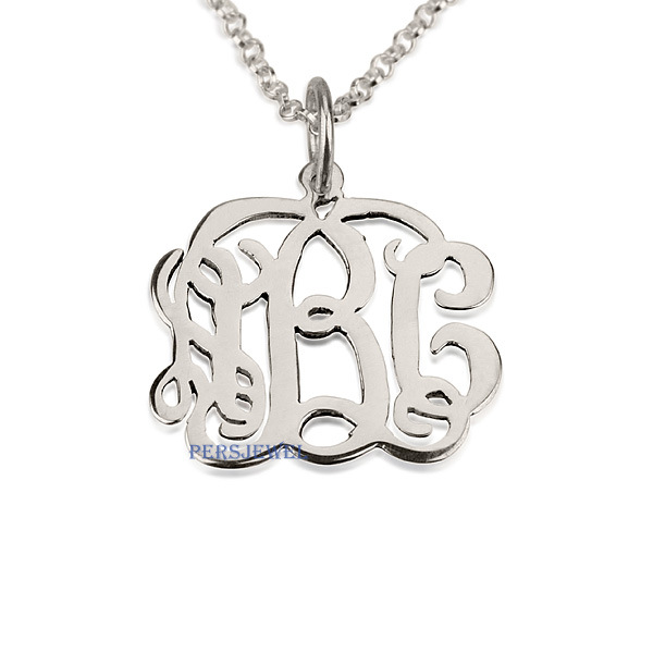 Monogram personalized jewelry collection